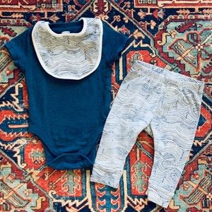 """Old Navy """"Deep Blue Sea Waves"""" 3-piece Outfit 🌊"""